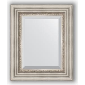 купить Зеркало с фацетом в багетной раме Evoform Exclusive 46x56 см, римское серебро 88 мм (BY 1369) онлайн