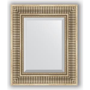 Зеркало с фацетом в багетной раме Evoform Exclusive 47x57 см, серебряный акведук 93 мм (BY 1370)