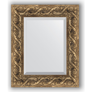 купить Зеркало с фацетом в багетной раме Evoform Exclusive 46x56 см, фреска 84 мм (BY 1371) онлайн