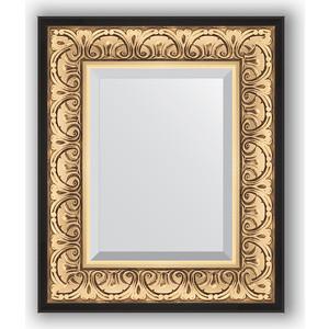 Зеркало с фацетом в багетной раме Evoform Exclusive 50x60 см, барокко золото 106 мм (BY 1373)