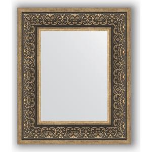 Зеркало в багетной раме Evoform Definite 49x59 см, вензель серебряный 101 мм (BY 3032)