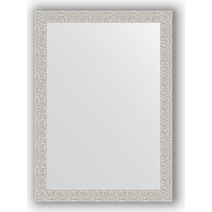 Зеркало в багетной раме поворотное Evoform Definite 51x71 см, мозаика хром 46 мм (BY 3036) фото