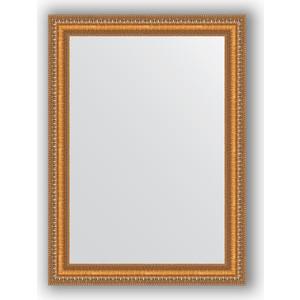 Зеркало в багетной раме поворотное Evoform Definite 55x75 см, золотые бусы на бронзе 60 мм (BY 3042)