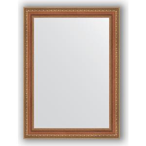 Зеркало в багетной раме поворотное Evoform Definite 55x75 см, бронзовые бусы на дереве 60 мм (BY 3043)
