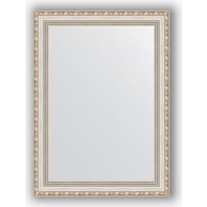 Зеркало в багетной раме поворотное Evoform Definite 55x75 см, версаль серебро 64 мм (BY 3046)