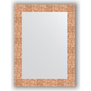 Зеркало в багетной раме поворотное Evoform Definite 56x76 см, соты медь 70 мм (BY 3050)