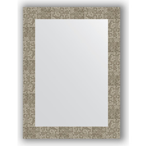 Зеркало в багетной раме поворотное Evoform Definite 56x76 см, соты титан 70 мм (BY 3052)
