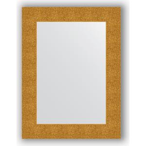 Зеркало в багетной раме поворотное Evoform Definite 60x80 см, чеканка золотая 90 мм (BY 3054) зеркало с гравировкой поворотное evoform florentina 60x80 см by 5002