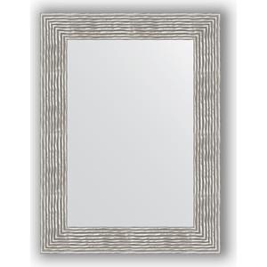 Зеркало в багетной раме поворотное Evoform Definite 60x80 см, волна хром 90 мм (BY 3057) зеркало напольное поворотное evoform definite floor 111x201 см в багетной раме волна хром 90 мм by 6023
