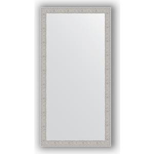 Зеркало в багетной раме поворотное Evoform Definite 51x101 см, волна алюминий 46 мм (BY 3070)