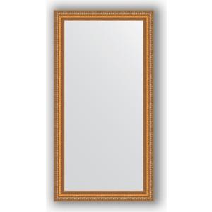 Зеркало в багетной раме поворотное Evoform Definite 55x105 см, золотые бусы на бронзе 60 мм (BY 3074)