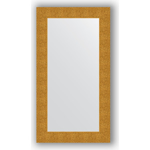 Зеркало в багетной раме поворотное Evoform Definite 60x110 см, чеканка золотая 90 мм (BY 3086) зеркало в багетной раме поворотное evoform definite 60x110 см черный дуб 37 мм by 0734