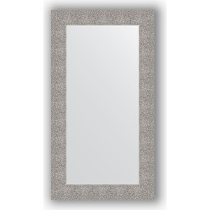 Зеркало в багетной раме поворотное Evoform Definite 60x110 см, чеканка серебряная 90 мм (BY 3087) зеркало в багетной раме поворотное evoform definite 60x110 см черный дуб 37 мм by 0734