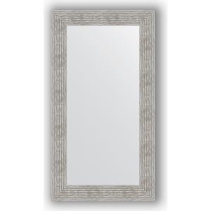Зеркало в багетной раме поворотное Evoform Definite 60x110 см, волна хром 90 мм (BY 3089) зеркало в багетной раме поворотное evoform definite 60x110 см черный дуб 37 мм by 0734