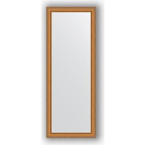 Зеркало в багетной раме поворотное Evoform Definite 55x145 см, золотые бусы на бронзе 60 мм (BY 3106)