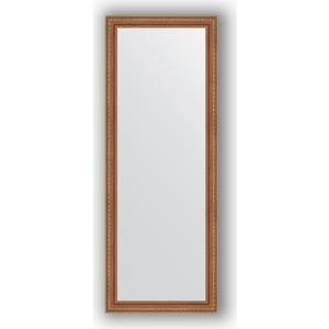 Зеркало в багетной раме поворотное Evoform Definite 55x145 см, бронзовые бусы на дереве 60 мм (BY 3107)