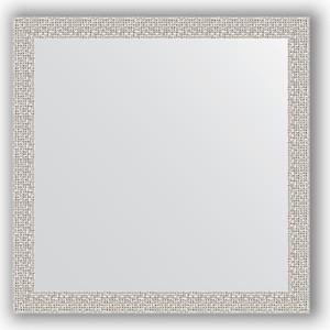 Зеркало в багетной раме Evoform Definite 61x61 см, мозаика хром 46 мм (BY 3132)