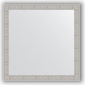 Зеркало в багетной раме Evoform Definite 61x61 см, волна алюминий 46 мм (BY 3134)