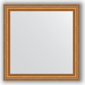 Зеркало в багетной раме Evoform Definite 65x65 см, золотые бусы на бронзе 60 мм (BY 3138)