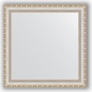Зеркало в багетной раме Evoform Definite 65x65 см, версаль серебро 64 мм (BY 3142) встраиваемый светодиодный светильник horoz 10w 6000к белый 016 017 0010 hl6755l