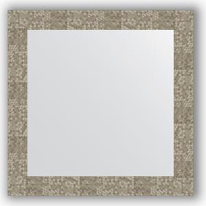 Зеркало в багетной раме Evoform Definite 66x66 см, соты титан 70 мм (BY 3148) фото