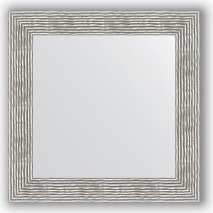 Зеркало в багетной раме Evoform Definite 70x70 см, волна хром 90 мм (BY 3153) полотенце mona liza my little pony в тропиках цвет розовый 70 х 140 см