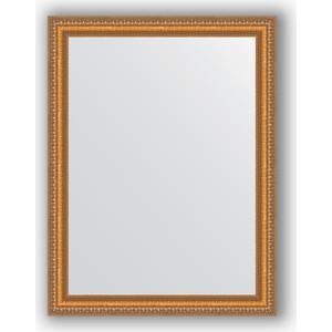 Зеркало в багетной раме поворотное Evoform Definite 65x85 см, золотые бусы на бронзе 60 мм (BY 3170)