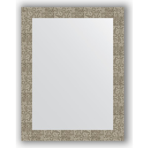 цены Зеркало в багетной раме поворотное Evoform Definite 66x86 см, соты титан 70 мм (BY 3180)