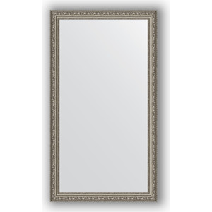 Зеркало в багетной раме поворотное Evoform Definite 64x114 см, виньетка состаренное серебро 56 мм (BY 3200) зеркало в багетной раме evoform definite 64x114 см беленый дуб 57 мм by 1086