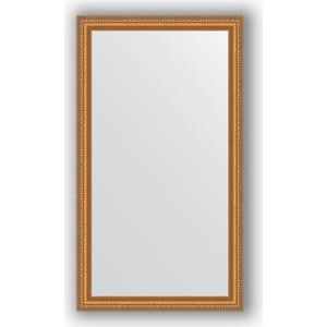 Зеркало в багетной раме поворотное Evoform Definite 65x115 см, золотые бусы на бронзе 60 мм (BY 3202)