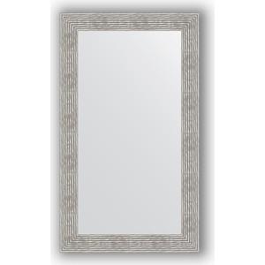 Зеркало в багетной раме поворотное Evoform Definite 70x120 см, волна хром 90 мм (BY 3217) зеркало напольное поворотное evoform definite floor 111x201 см в багетной раме волна хром 90 мм by 6023