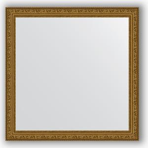 Зеркало в багетной раме Evoform Definite 74x74 см, виньетка состаренное золото 56 мм (BY 3231) цены