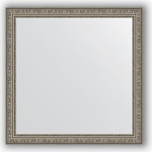 цена на Зеркало в багетной раме Evoform Definite 74x74 см, виньетка состаренное серебро 56 мм (BY 3232)