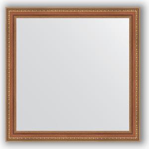 Зеркало в багетной раме Evoform Definite 75x75 см, бронзовые бусы на дереве 60 мм (BY 3235)