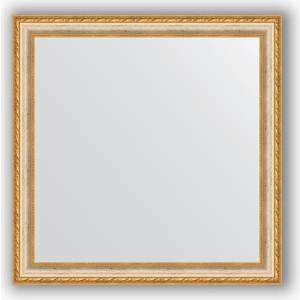 Зеркало в багетной раме Evoform Definite 75x75 см, версаль кракелюр 64 мм (BY 3237) зеркало в багетной раме поворотное evoform definite 55x105 см версаль кракелюр 64 мм by 3077