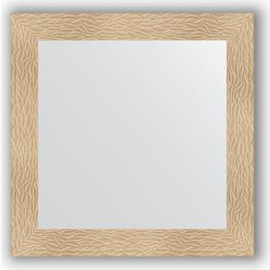 Зеркало в багетной раме Evoform Definite 80x80 см, золотые дюны 90 мм (BY 3245) зеркало в багетной раме поворотное evoform definite 80x100 см золотые дюны 90 мм by 3277