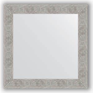 Зеркало в багетной раме Evoform Definite 80x80 см, волна хром 90 мм (BY 3249) зеркало напольное поворотное evoform definite floor 111x201 см в багетной раме волна хром 90 мм by 6023