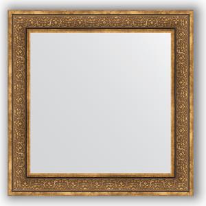 Зеркало в багетной раме Evoform Definite 83x83 см, вензель бронзовый 101 мм (BY 3255)