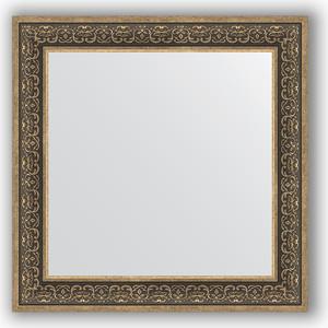 цены Зеркало в багетной раме Evoform Definite 83x83 см, вензель серебряный 101 мм (BY 3256)