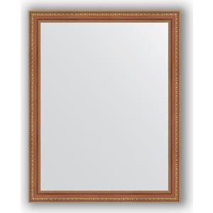 Зеркало в багетной раме поворотное Evoform Definite 75x95 см, бронзовые бусы на дереве 60 мм (BY 3267)