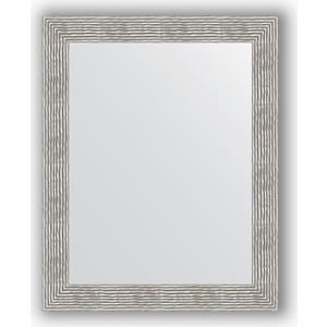 Зеркало в багетной раме поворотное Evoform Definite 80x100 см, волна хром 90 мм (BY 3281) зеркало в багетной раме поворотное evoform definite 80x100 см золотые дюны 90 мм by 3277