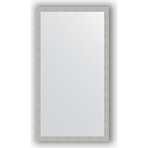 Зеркало в багетной раме поворотное Evoform Definite 71x131 см, волна алюминий 46 мм (BY 3294)