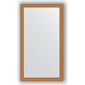 Зеркало в багетной раме поворотное Evoform Definite 75x135 см, золотые бусы на бронзе 60 мм (BY 3298)