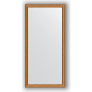 Зеркало в багетной раме поворотное Evoform Definite 75x155 см, золотые бусы на бронзе 60 мм (BY 3330)