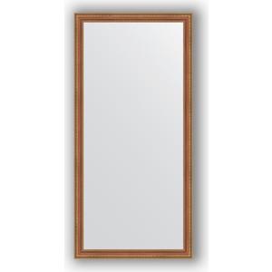 Зеркало в багетной раме поворотное Evoform Definite 75x155 см, бронзовые бусы на дереве 60 мм (BY 3331)