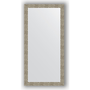 Зеркало в багетной раме поворотное Evoform Definite 76x156 см, соты титан 70 мм (BY 3340)