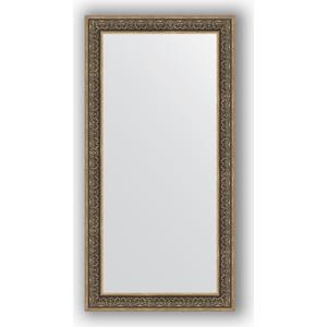 Зеркало в багетной раме поворотное Evoform Definite 83x163 см, вензель серебряный 101 мм (BY 3352)