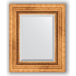 купить Зеркало с фацетом в багетной раме Evoform Exclusive 46x56 см, римское золото 88 мм (BY 3360) онлайн
