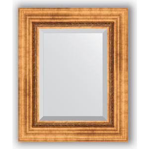 Зеркало с фацетом в багетной раме Evoform Exclusive 46x56 см, римское золото 88 мм (BY 3360) зеркало с фацетом в багетной раме evoform exclusive 46x56 см травленое золото 87 мм by 1363