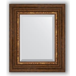 купить Зеркало с фацетом в багетной раме Evoform Exclusive 46x56 см, римская бронза 88 мм (BY 3361) онлайн
